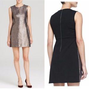 DVF Yvette Metallic Dress